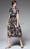 Vestido Longuete Primavera Vibrante
