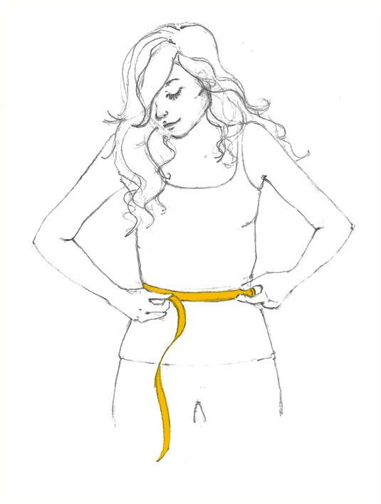 Guia de medidas para sua cintura