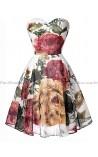 Vestido Curto Floral Kate Middleton