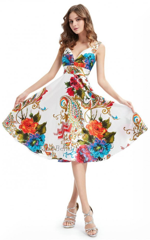 Vestido Médio Floral Molly