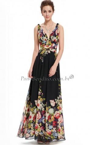 Vestido Longo Floral Ophra