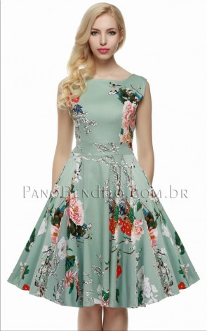 Vestido Curto Floral Sonho Americano