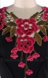 Vestido Evangélico Ramos e Rosas