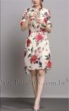 Vestido Estampa de Rosas Rochelle