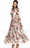 Vestido Longo Floral Maximus Anne Hathaway