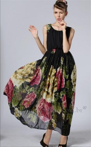 Vestido Floral Rosas de Black Heart
