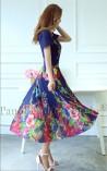 Vestido Longo Flores de Rosedal