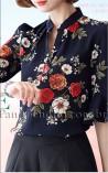 Blusa Social Estampa Flores de Paris