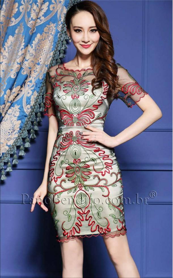 Vestido de Renda e Tule Moscow