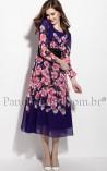 Vestido Longuete Floral Frescor de Flores