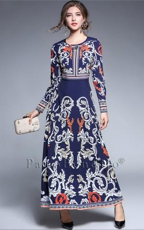 Vestido Longo Arabescos de Moana