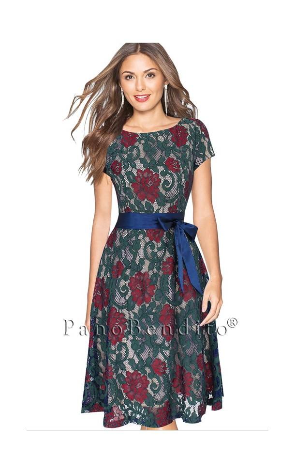 Vestido de Renda Floral Buenos Aires