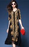Vestido Longuete Golden Diva