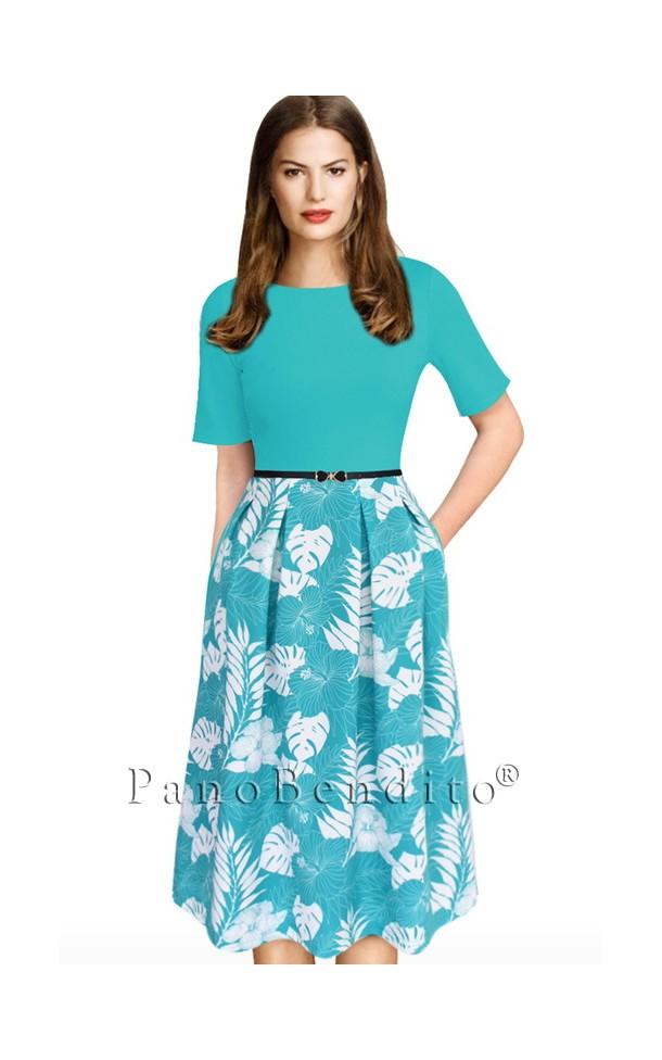 Vestido Midi com Corte em A Charlene Wittstock