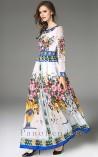 Vestido Longo Floral Peloponeso