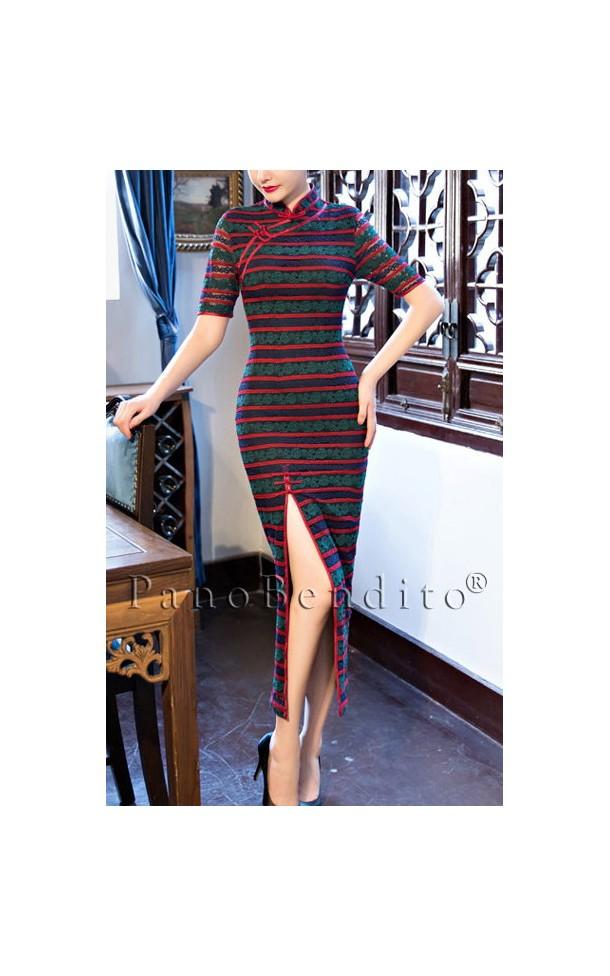 Vestido de Renda com Fenda Ibiza