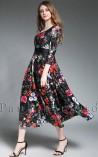 Vestido Longuete Floral Beverly Hills