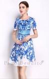 Vestido Princesa Estampa Lírios de San Juan