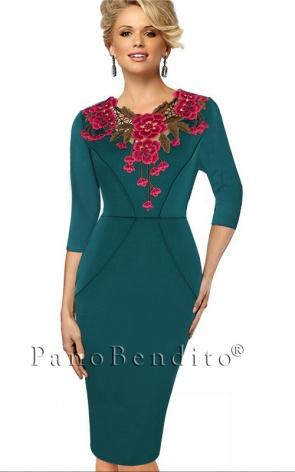 Vestido Evangélico Ramos e Rosas II