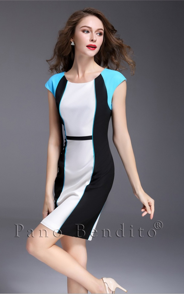 Vestido Geométrico 3D Slim Durango