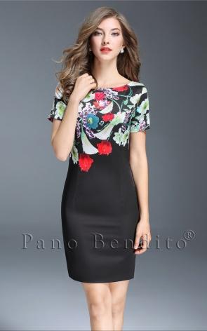Vestido Tubinho Floral Victoria