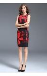 Vestido Estampa Floral com Cinto KeyWest