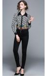 Camisa Estampa Floral e Geometria Esparta