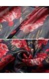 Blusa Rolê com Franja Estampa de Rosas Kate Spade