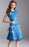 Vestido Médio Broderie Floral Cedar Hill