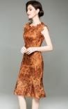 Vestido Rabo de Sereia Renda Golgen Luxor Las Vegas