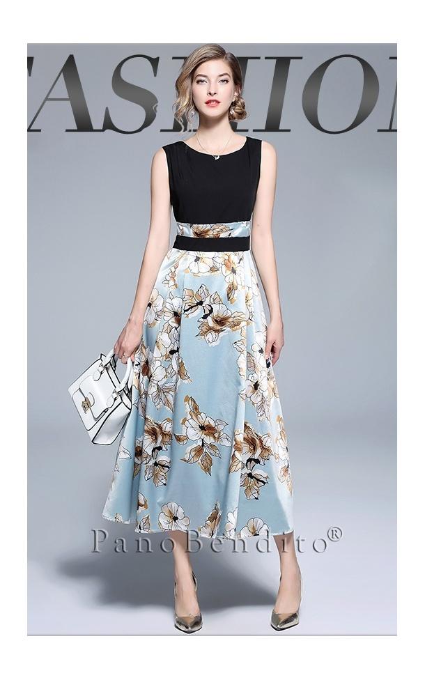 Vestido Longuete Estampa Floral Monte Carlo