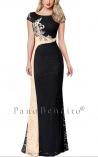 Vestido Longo de Renda Black & Gold Melinna
