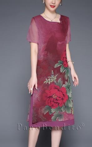 Vestido Reto Estampa Floral Melbourne
