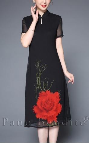 Vestido Estampa de Rosas Havana