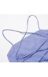 Vestido Listrado Costas Nude Savannah